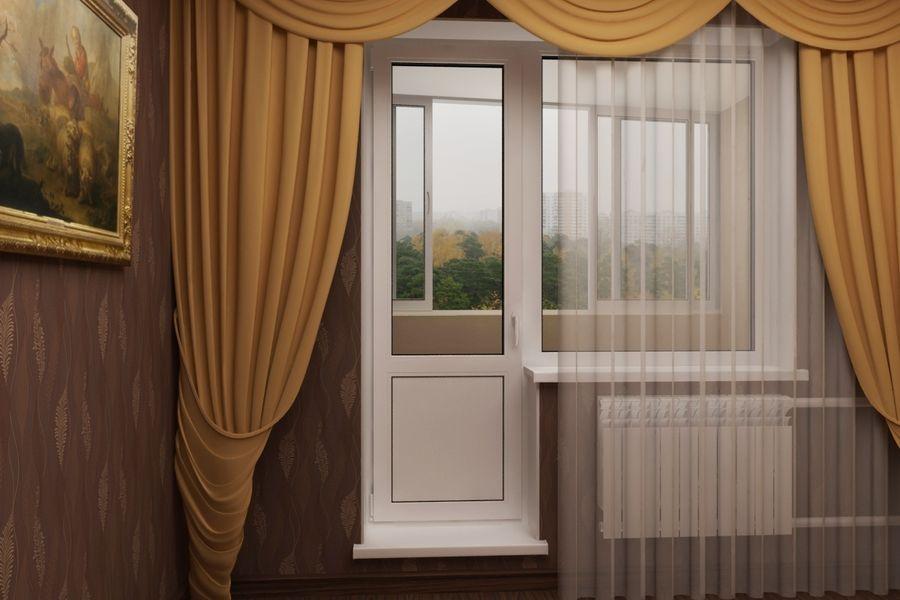 Декоративные элементы ПВХ-окна: шторы